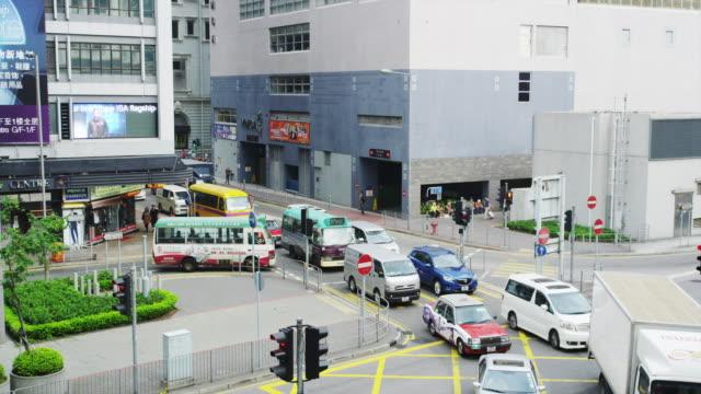 street scene in tsim sha tsui - tsim sha tsui stock videos & royalty-free footage