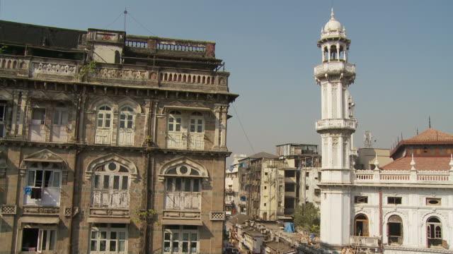 vídeos y material grabado en eventos de stock de ws ha street scene / mumbai, india - letrero de tienda