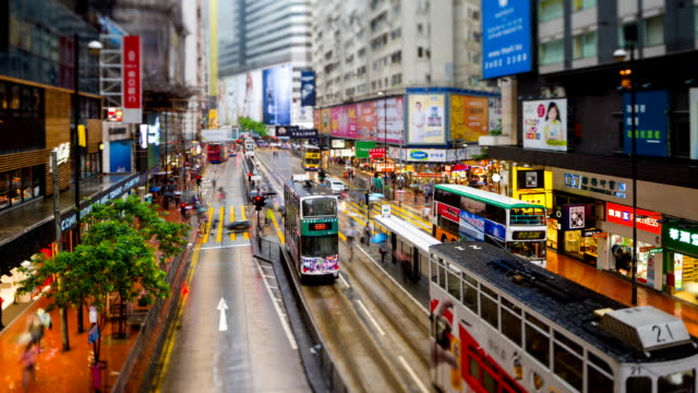 street scene of hong kong - central district hong kong stock videos & royalty-free footage