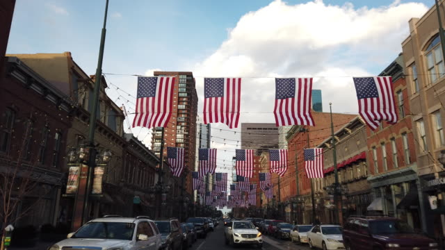 street scene. outdoor winter shots of denver in the day time. - stars and stripes stock videos & royalty-free footage