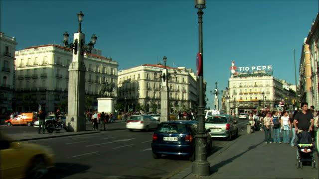 WS Street scene, Puerta del Sol, Madrid, Spain
