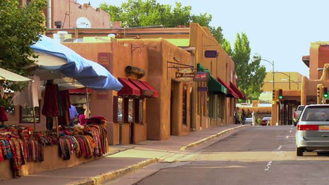 ms, street scene, santa fe, new mexico, usa - adobe stock videos & royalty-free footage