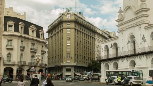 street scene, shot in buenos aires, on the 29th of july, 2014. - buenos aires stock videos & royalty-free footage