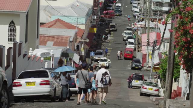 ws street scene / st. georges, grenada, caribbean - st. george's grenada stock videos and b-roll footage