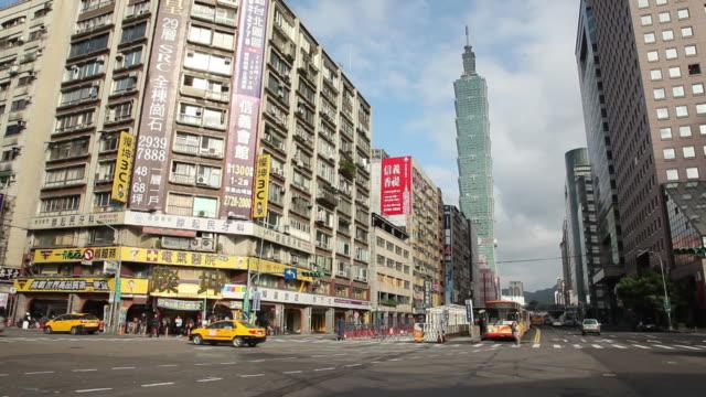 vídeos y material grabado en eventos de stock de ws street scene / taipei, taiwan - taipei