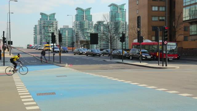 WS Street scene with daily traffic / London, England, United Kingdom