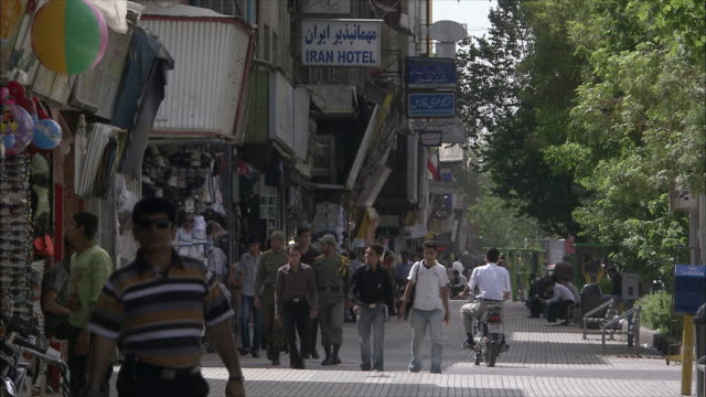 WS Street scene with pedestrians, Shiraz, Iran