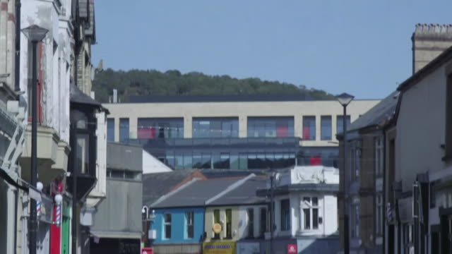 """street scenes and gvs of pontypridd as people living in rhondda cynon taff in south wales are put into a local lockdown as coronavirus cases rise in... - """"bbc news"""" stock videos & royalty-free footage"""
