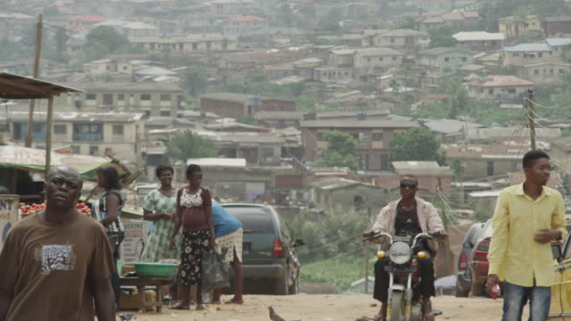 street scenes from a lagos slum, nigeria. - slum stock videos & royalty-free footage