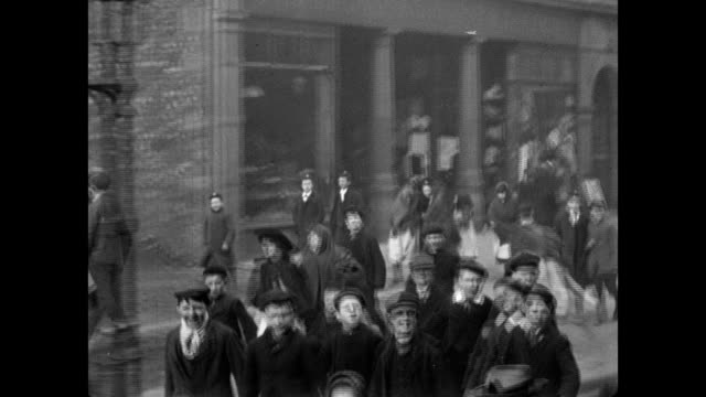 street scenes in halifax, 1902 - belle epoque stil stock-videos und b-roll-filmmaterial