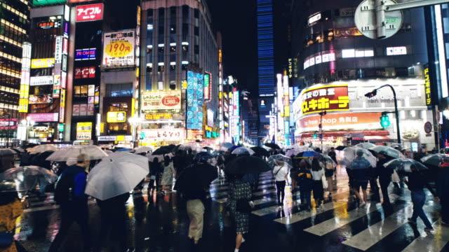 Street Scenes in Kabukicho on a Rainy Night