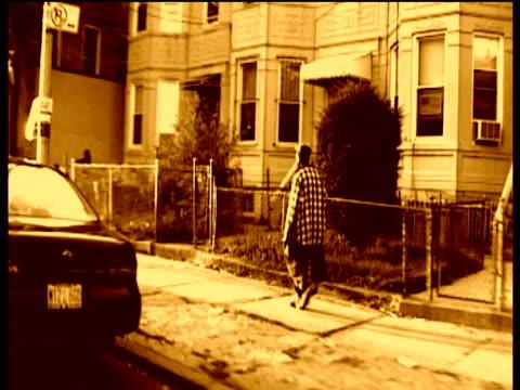 Street scenes of Brooklyn sepia tone filter effect applied