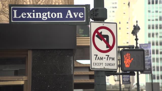 street scenes on lexington avenue, by trump grand hyatt hotel. - b roll stock videos & royalty-free footage