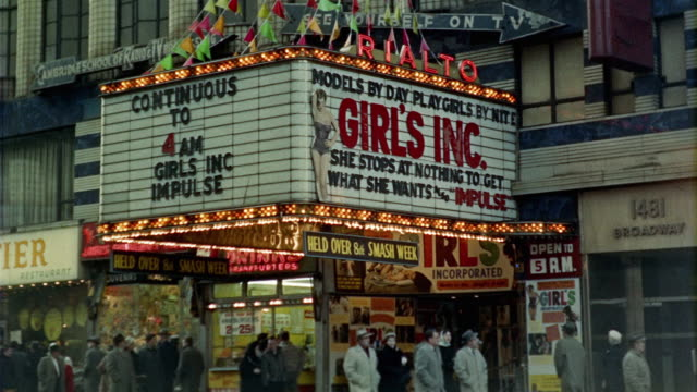 1958 montage street scenes, times square, new york, new york state, usa - 1958 stock videos & royalty-free footage
