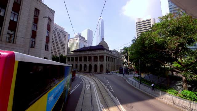 vidéos et rushes de street scenes & victoria peak view - victoria peak