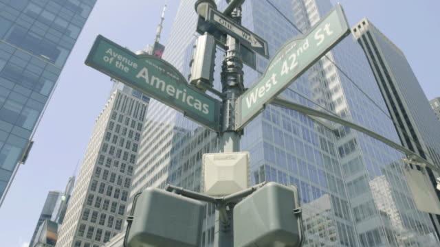 NY Street Sign - Dolly Shot