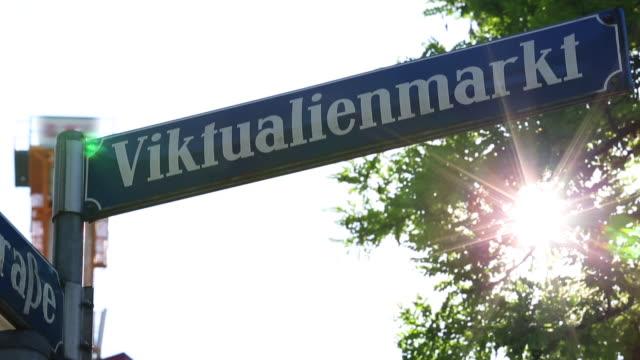 Straatnaambord Viktualienmarkt in München