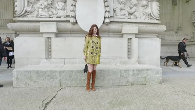 Street Style Haute Couture Paris Fashion Week 2016on January 26 2016 in Paris France