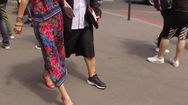 Street Style in Paris Menswear Fashion Week June 24 2016 in Paris France