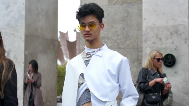 street style slomo on september 26 2019 in paris france as part of paris fashion week - street style stock videos & royalty-free footage