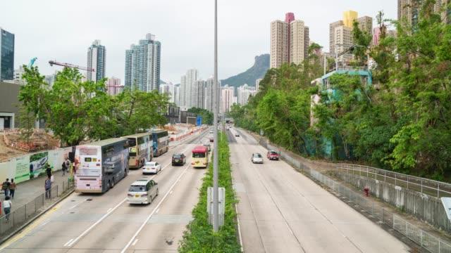 stockvideo's en b-roll-footage met 4k tl: straat naar centrale stad. - hong kong