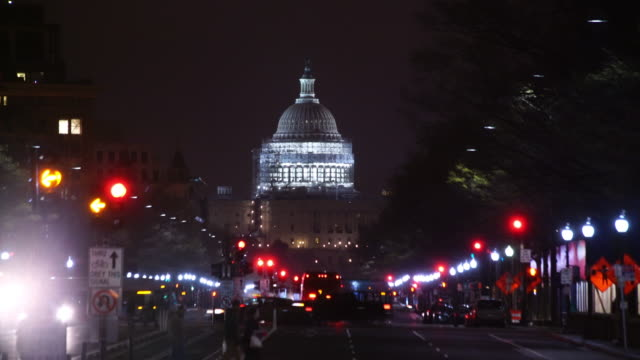Street to The United States Capitol building in Washington DC