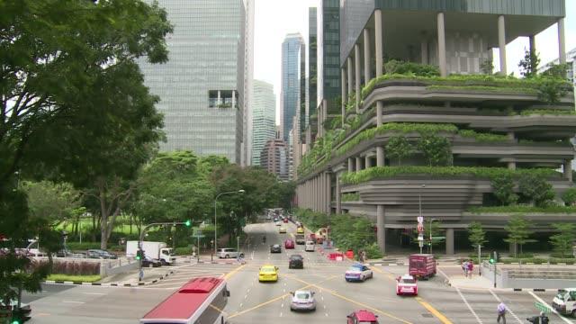 street traffic in singapore - singapore stock videos & royalty-free footage