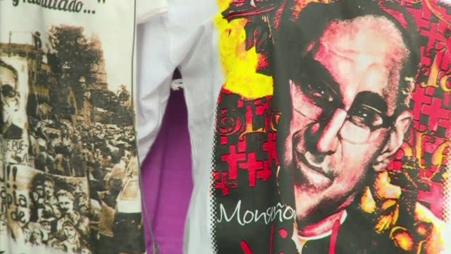 Street vendors have a field day on Salvadoran archbishop Oscar Romero's beatification