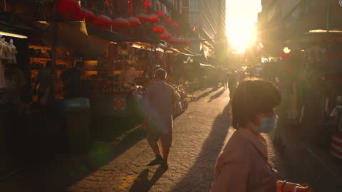 street view in chinatown, malaysia - chinatown stock videos & royalty-free footage