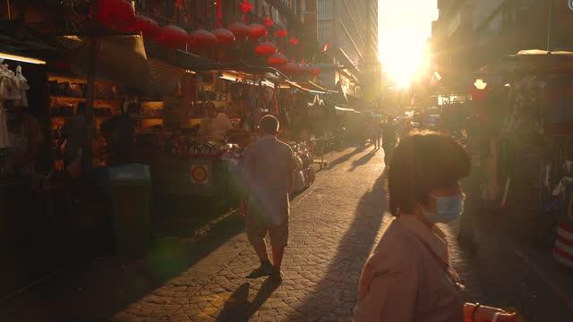 street view in chinatown, malaysia - kuala lumpur stock videos & royalty-free footage