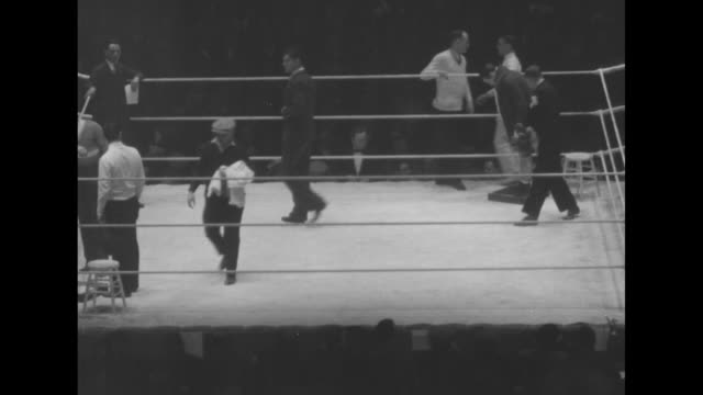 street view of chicago stadium traffic and pedestrians / pan interior packed stadium boxing ring in center lit up / ring with trainers officials and... - comment box stock videos & royalty-free footage