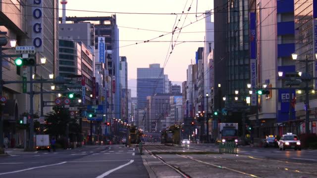 vidéos et rushes de vue de rue du centre-ville d'hiroshima japon - hiroshima prefecture