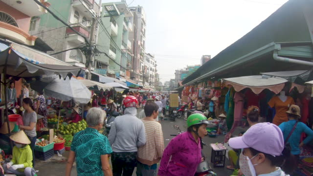 vidéos et rushes de street view of  ho chi minh, vietnam - vietnam