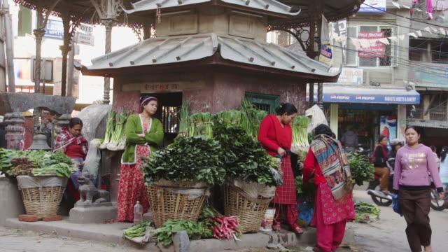 street view of kathmandu, nepal - rickshaw stock videos and b-roll footage