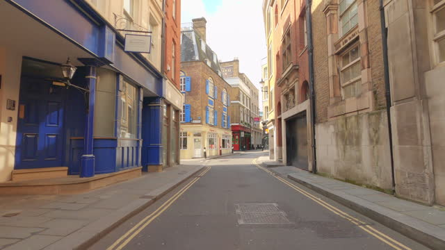 street view of london during coronavirus (covid 19) by bicycle london 4x 16 - carter ln - 4k - digital camcorder stock videos & royalty-free footage