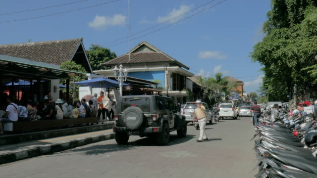 street view of ubud,bali,indonesia - bali stock videos & royalty-free footage