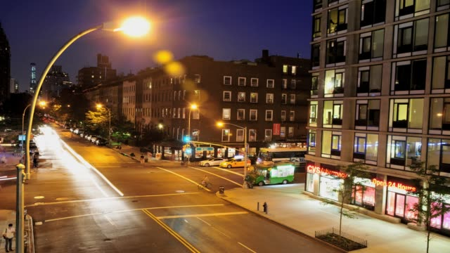 street view of west 23rd street and 10 avenue, lower west side, manhattan, new york city, usa time lapse, lower west side, manhattan, new york on... - 2013 stock videos & royalty-free footage