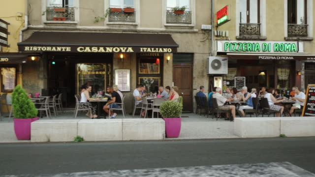 street with cafes - Grenoble, France