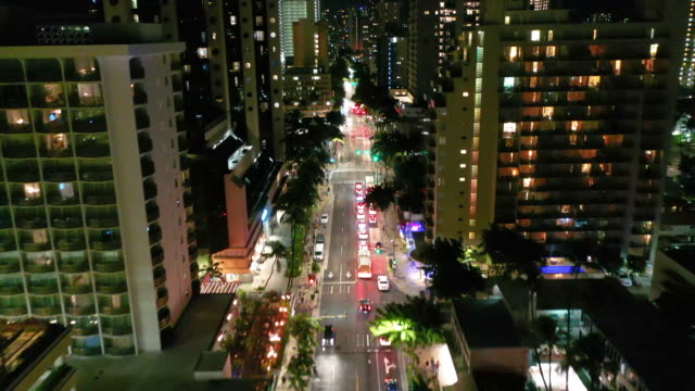 street with cars in waikiki - oahu stock videos & royalty-free footage