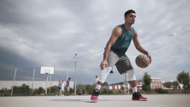 streetball star - courtyard stock videos & royalty-free footage
