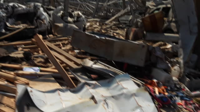 street-level view of destruction caused by a huge explosion at beirut port - surface level stock videos & royalty-free footage