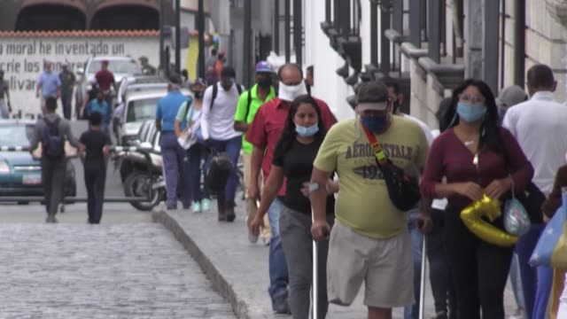 streets are busy in caracas as venezuela goes back under quarantine after easing the lockdown for five days as part of a plan that alternates five... - caracas stock videos & royalty-free footage