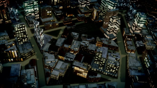 streets crisscross through a large city. - crisscross stock videos & royalty-free footage