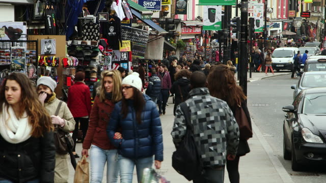 ms streets full of people / london, england, united kingdom - high street stock videos & royalty-free footage