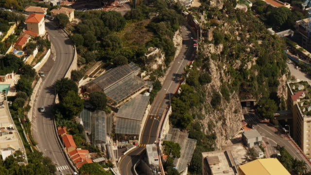 streets in monaco from above at daytime - spoonfilm stock-videos und b-roll-filmmaterial
