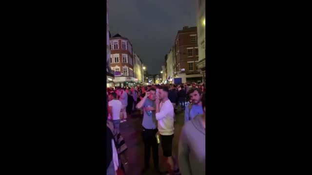streets in soho, london, were crowded as pubs, bars, and restaurants in the united kingdom were... - 18 19 years stock videos & royalty-free footage