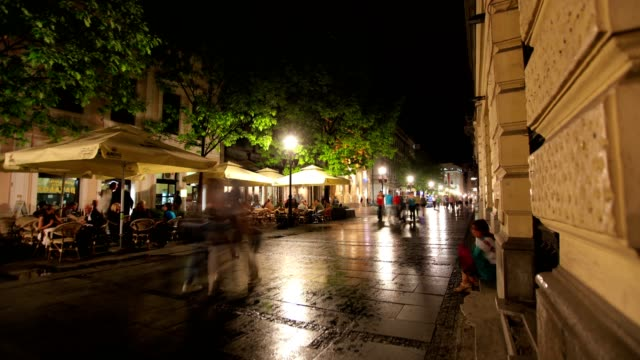 streets of belgrade (night) - hungarian culture stock videos & royalty-free footage