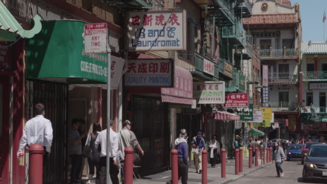 streets of chinatown, san francisco, ca - chinatown stock videos & royalty-free footage