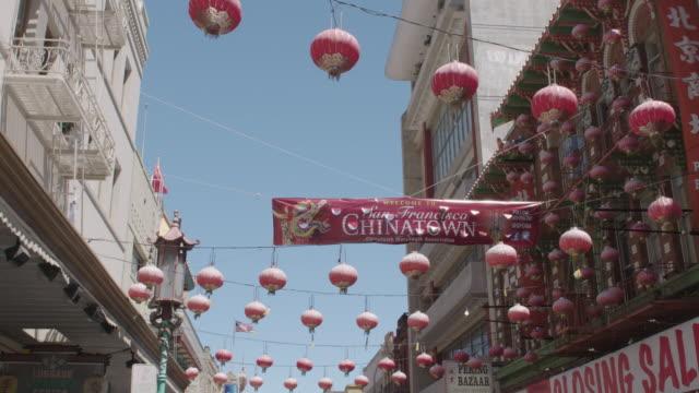 vídeos y material grabado en eventos de stock de streets of chinatown, san francisco, ca - vector