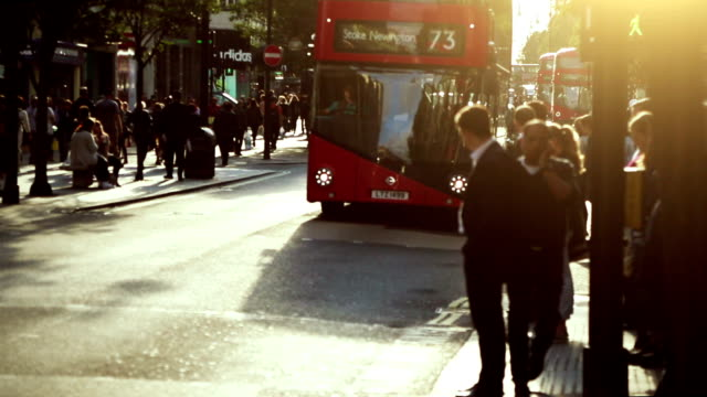 Streets of London in rush hours